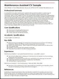 Mechanic Cv Examples Uk Resume Pdf Download