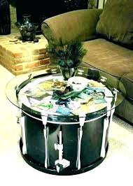 coffee tables round drum coffee table silver metal round drum round drum coffee table drum coffee