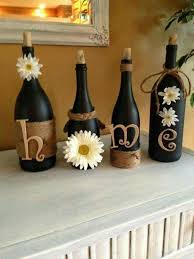 Wine Bottle Themed Kitchen Decor Rustic and chic Perfect for my basement living room theme Love 2