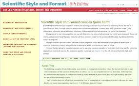 Cite Your Sources Cse Style Biology Subject Class Guides At