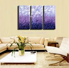 Wall Paintings For Living Room Aliexpresscom Buy 3 Piece Acrylic Tree Purple Abstract Modern