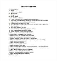 Bathroom Cleaning Schedule Fascinating 48 Bathroom Cleaning Schedule Templates PDF DOC Free Premium