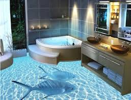 3d bathroom designs with fish