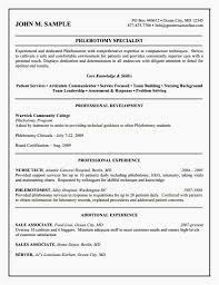 20 Phlebotomy Resume No Experience Colimatrespuntocero Com