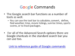 Google Search Commands It Some Tips And Tricks For Using Google Ashley Knapp Just Ppt