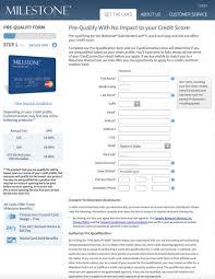 milestone gold application page