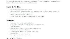 Resume Skills Simple Resume Qualities And Skills Sample Resume With Skills And Abilities