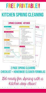 Kitchen Spring Cleaning Checklist Home Made Interest