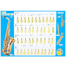 Saxophone Fingering Chart Yamaha Saxophone Fingering Chart Instructional Method Books 19
