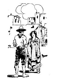 Kleurplaat Cowboy Met Vrouw Afb 25589 Images