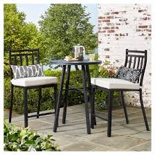 target threshold outdoor dining set. fairmont 3-piece steel balcony-height patio bistro set - threshold™ target threshold outdoor dining