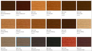 Sherwin Williams Bac Wiping Stain Color Chart Sherwin Williams Gel Stain Colors Coshocton
