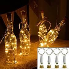 bottle lighting. Kingleder Wine Bottle USB Rechargeable LED Cork Light String, Powered Accent For Lighting B
