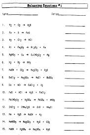 balancing chemical equations worksheet grade middle chemistry worksheets physical science free for 9th pdf