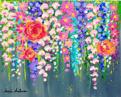 acrylic painting on canvas best flower painting canvas ideas on acrylic paintings with acrylics black canvas