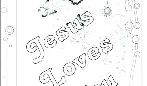 Jesus Loves Me Coloring Page Pdf Collection Of Pages Download