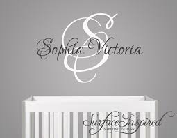 nursery wall decals sophia victoria name wall decal for boys in custom made wall decals decorating  on custom made wall art stickers with nursery wall decals sophia victoria name wall decal for boys in