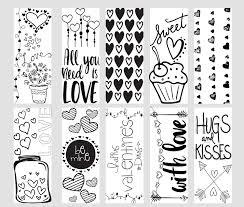 Valentine Printable Coloring Page Bookmarks Kleinworth Co
