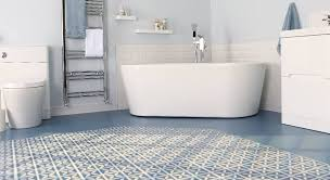 bathroom vinyl flooring. Blue Designer Bathroom Vinyl Flooring Harvey Maria