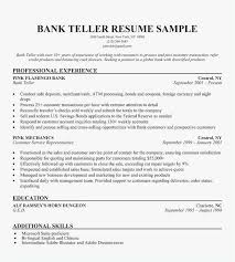 Bank Teller Resume Examples Example Banking Resume Template Best