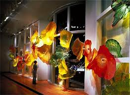 hand blown glass plate home wall art