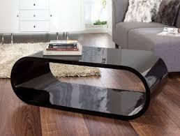 dwell oval gloss coffee table black
