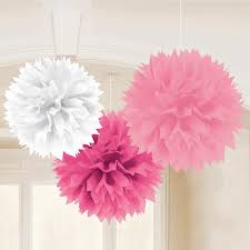 How To Make Fluffy Decoration Balls Tissue and Paper Decorations Parties100LessNet Party supplies 21