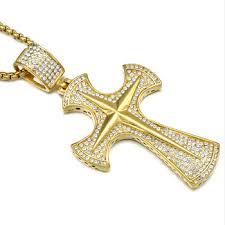 custom hip hop jewelry cross necklace 40 grams gold necklace designs