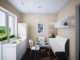 Kitchen:Small Kitchen For Minimalist Room With White Kitchen Table And  Chair Also With Black