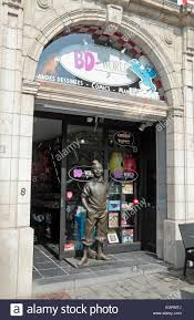 Entrance to the BD World ic book store in Brussels Belgium