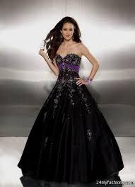 black and purple wedding dress 2016 2017 b2b fashion
