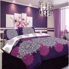 purple quilt covers