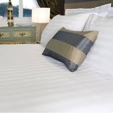 polycotton satin stripe duvet covers