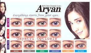Contact Lenses Colour Chart Yearly Colored Contact Lenses Aryan Color Lenses 2 Lens
