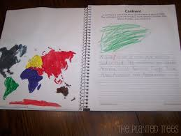 The Planted Trees  January      The Planted Trees I also used the blank world map linked above and had the kids color each continent a different color and glue it on the page opposite the definition