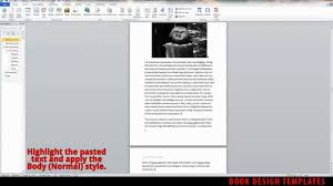 Book Design Templates Interior Book Design Template Demo For Ms Word Youtube