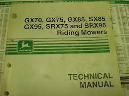 john deere service manual gx70 gx75 gx85 sx85 gx95 srx75 srx95 image is loading john deere service manual gx70 gx75 gx85 sx85