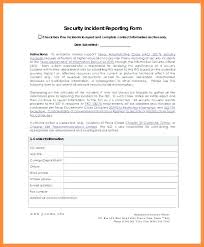 Information Security Incident Report Template With Sample Of