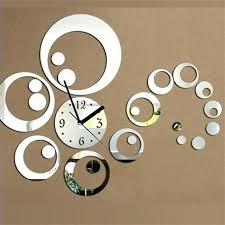 decor wall clock decorative clocks large home circle design stickers mirror effect acrylic glass clo