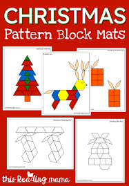 <b>Christmas Pattern</b> Block Mats - This Reading Mama