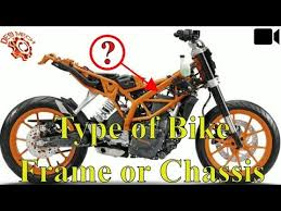 types of bike frames or chis used in