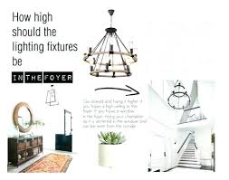 chandelier height foyer minimum needs to be in one story entries 2