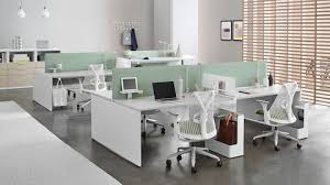 office studio design. White Sayl Chairs With Green Upholstered Seats At Layout Studio Individual Workstations Dividing Screens Office Design F