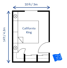 Delightful Small Bedroom Design California King 10 X 14ft ...
