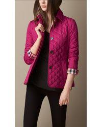 Burberry Diamond Quilted Jacket in Pink | Lyst & Burberry | Diamond Quilted Jacket | Lyst Adamdwight.com