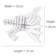 rocky deer wall mount doubles clothes hanger environmentally rhino cardboard safari