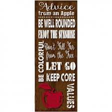 inspirational signs for office. Advice From An Apple Metal Sign Inspirational Signs For Office T