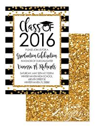 faux glitter gold confetti graduation invitation digital 4 6 graduation invitations