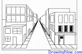 perspective drawings of buildings. Interesting Buildings How To Draw Street Full Of Buildings In 1 Pt Perspective On Drawings Of