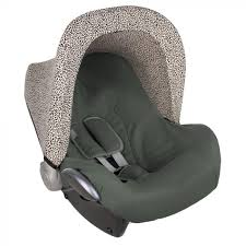 baby car seat cover green leopard